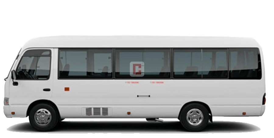 Chauffeur Driven 22-Seater-Toyota-Coaster in Dubai