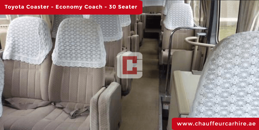Hire 30-Seater-Toyota-Coaster with Driver in Dubai