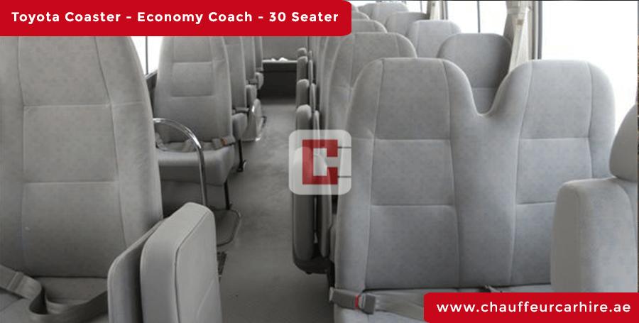 30-Seater-Toyota-Coaster Chauffeur Car Hire Dubai