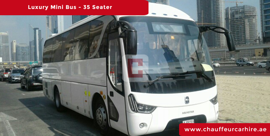Hire 35 Seater Luxury Bus with Driver in Dubai