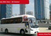 Chauffeur Driven35 Seater Luxury Bus in Dubai
