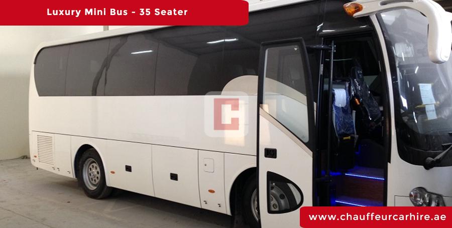 35 Seater Luxury Bus Chauffeur Car Hire Dubai