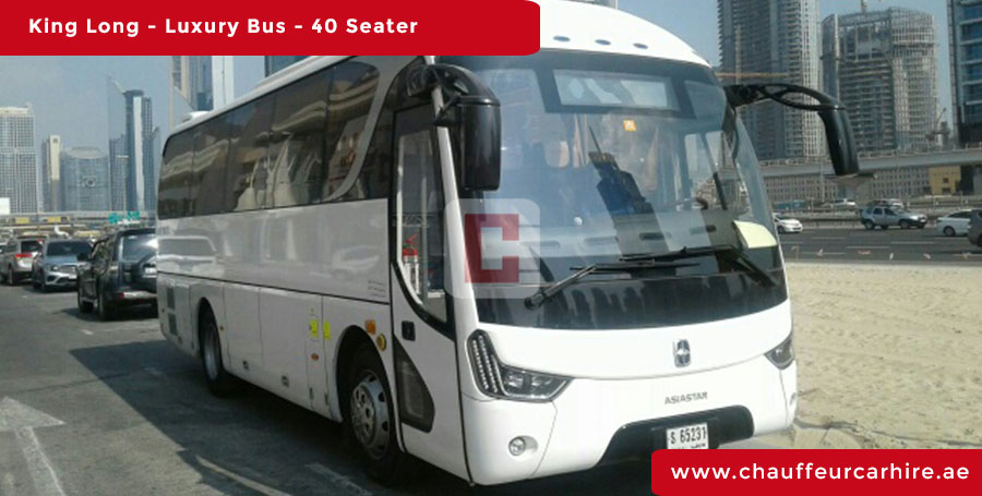 Chauffeur Driven40-Seater-Luxury-Bus in Dubai