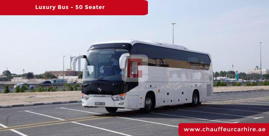 Chauffeur Driven50-Seater-Luxury-Bus in Dubai