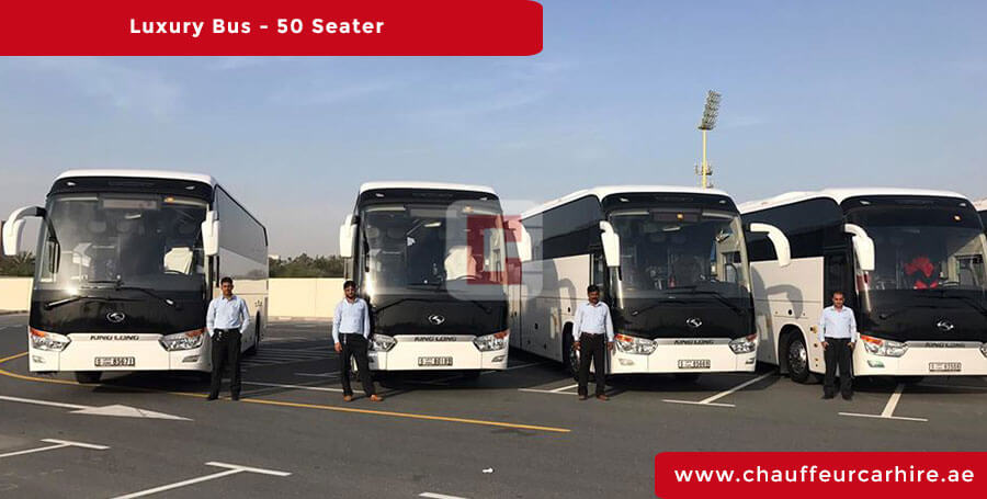 Hire 50-Seater-Luxury-Bus with Driver in Dubai