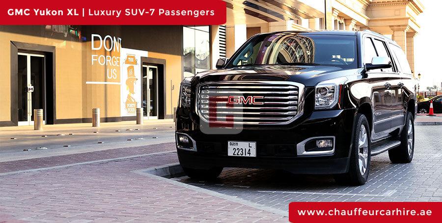 GMC Yukon XL Chauffeur Car Hire Dubai