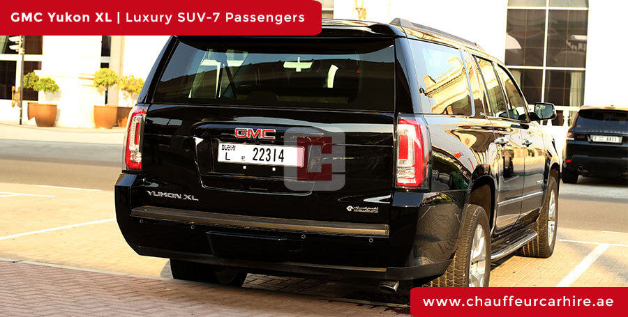 Rent GMC Yukon XL with Driver in Dubai