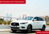 Chauffeur DrivenInfinity QX 60 in Dubai