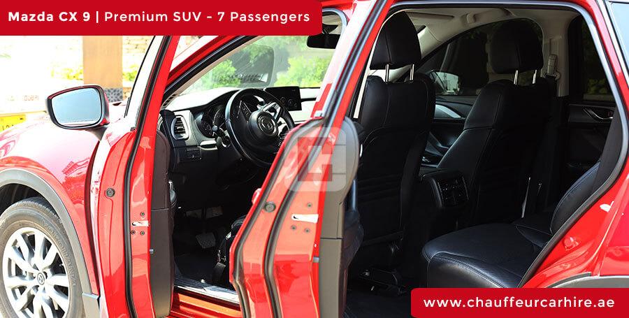 Mazda CX 9 Chauffeur Car Hire Dubai