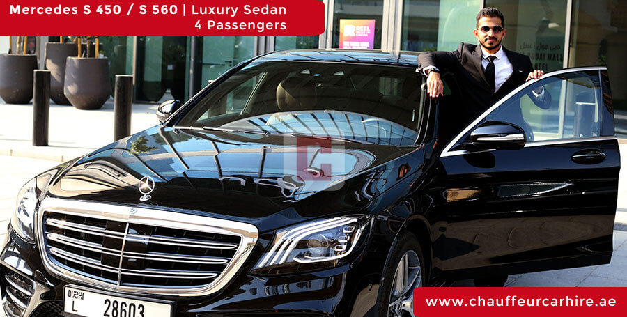 Rent Mercedes S 450 / S 560 with Driver in Dubai