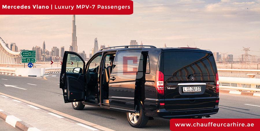 Hire Mercedes Viano with Driver in Dubai
