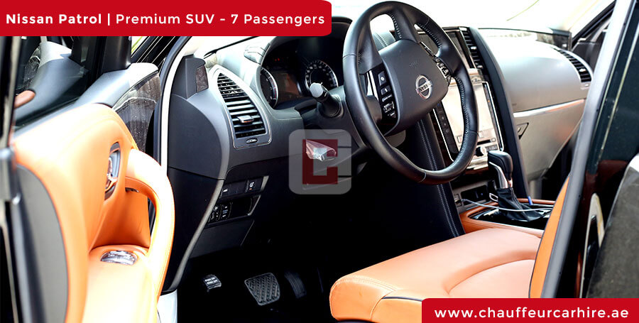 Rent Nissan Patrol with Driver in Dubai
