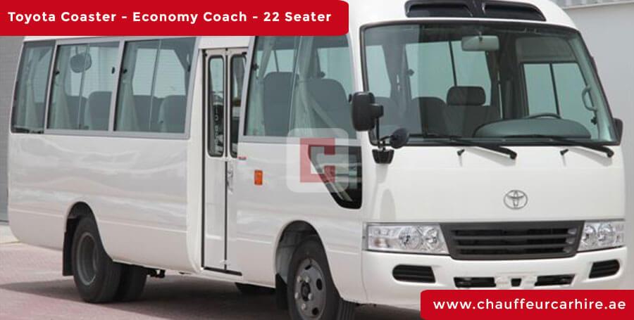 Chauffeur DrivenToyota Coaster 22-Seater in Dubai