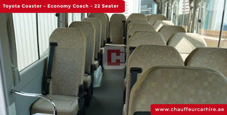 Toyota Coaster 22-Seater Chauffeur Car Hire Dubai
