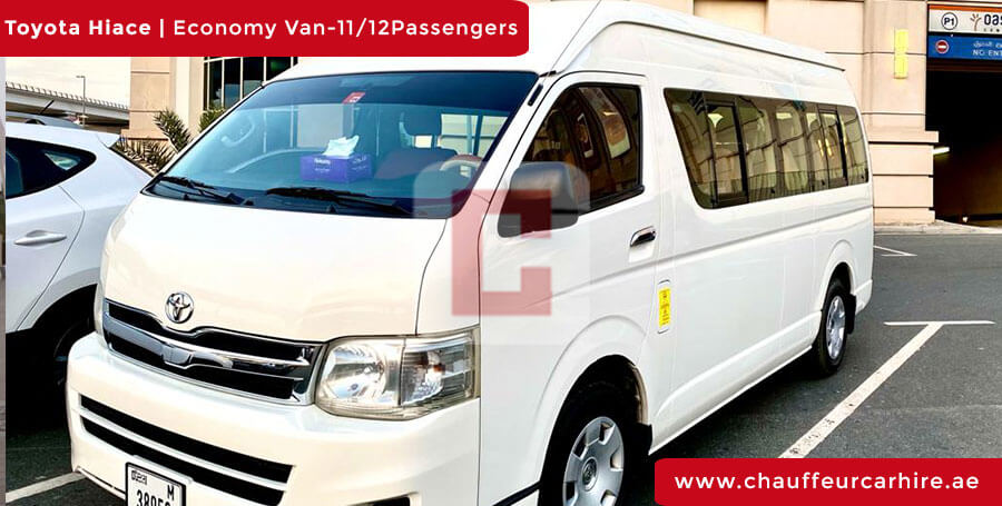 Chauffeur DrivenToyota Hiace in Dubai